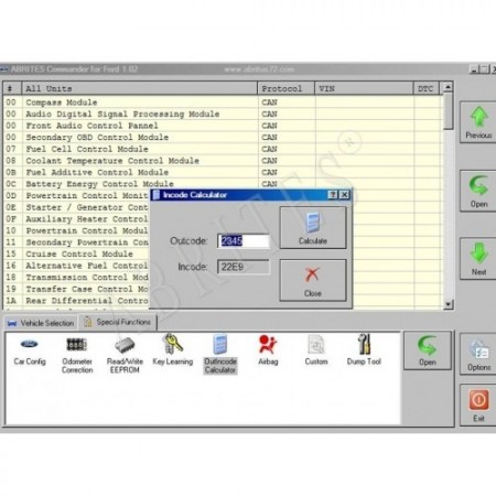 FR004 Key Manager, Advanced Diagnostic Functionality