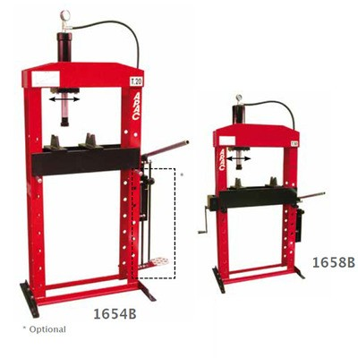 Hydraulic press with moveable piston - 1654B - 1655B - 1658B