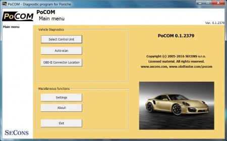 Pocom diagnose for Porsche
